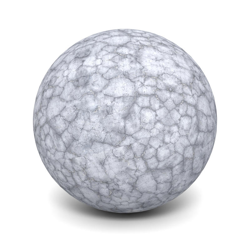 Free Abstract Concrete Stone Sphere On White Background Royalty Free Stock Photography - 77384397