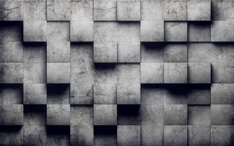 Abstract concrete wall royalty free illustration