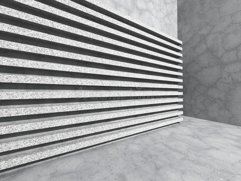Abstract concrete wall. Stripe pattern architecture background royalty free stock photo
