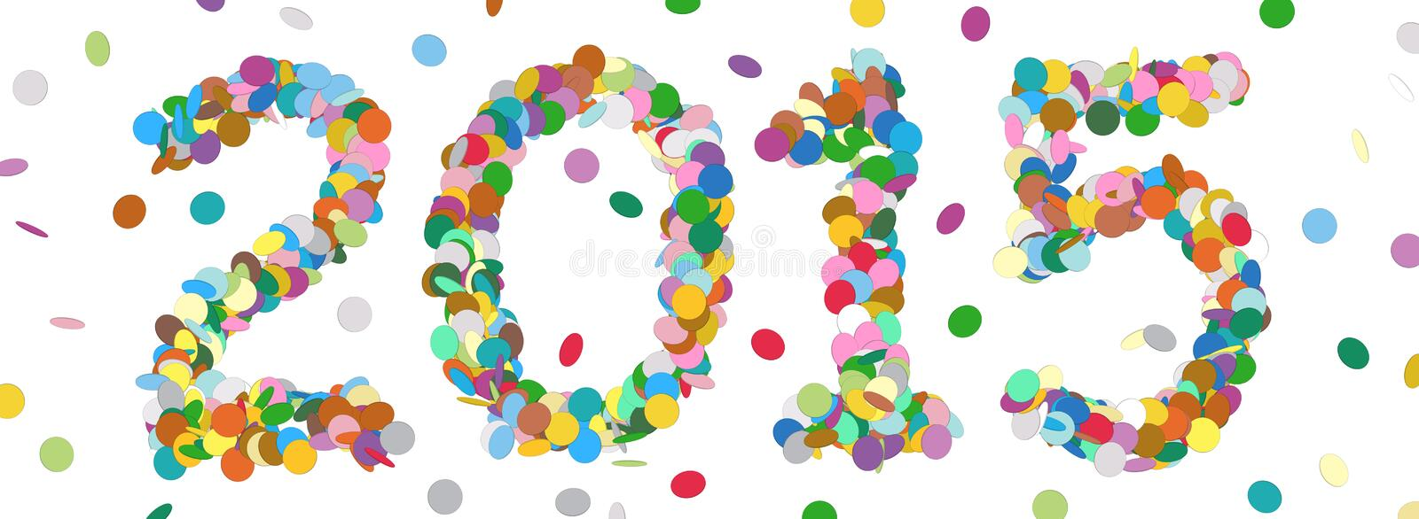 Abstract Confetti Year Date - 2015 vector illustration