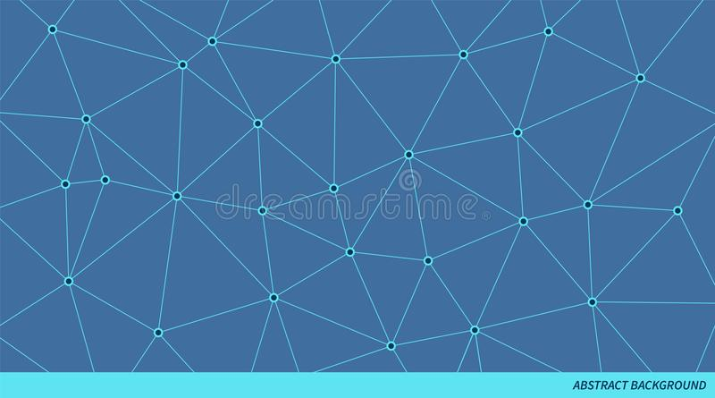 Abstract connected triangle vector pattern. Neural network background.Geometric polygonal illustration vector illustration