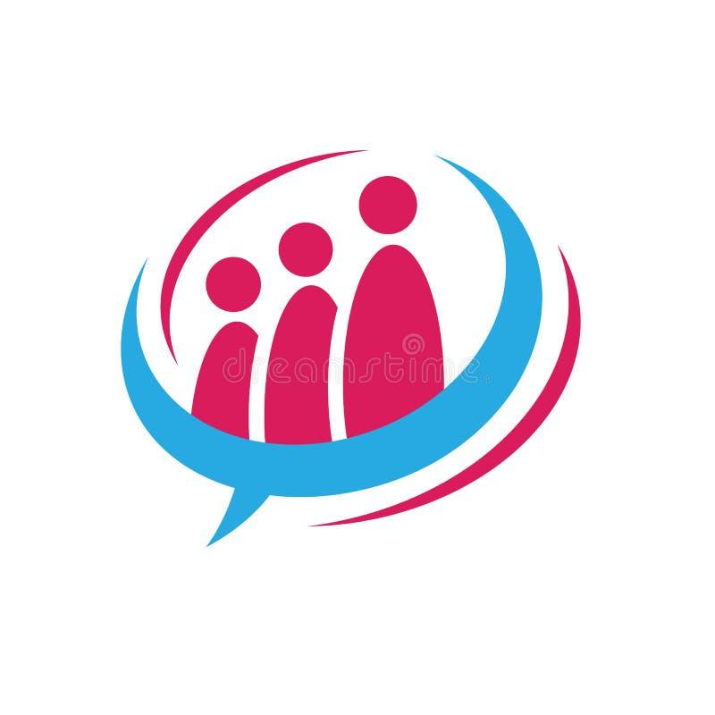 Team Work Logo Design, Circle People Abstract, Modern