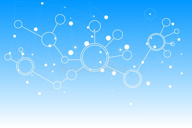 Abstract connecting dots and lines. technology background connect white digital network. Vector stock illustration