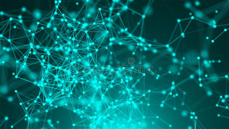 Abstract connection dots. Technology background. Network concept vector illustration