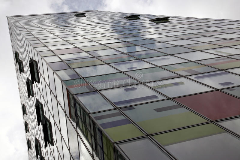 Abstract contemporary colored new building stock image