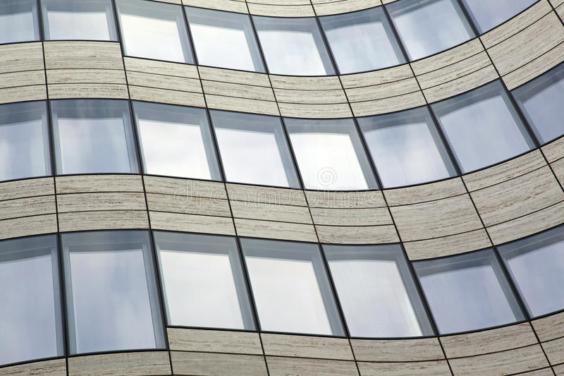 Abstract contemporary curved building royalty free stock photos
