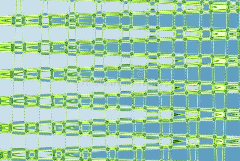 Abstract continuous ripples pattern in green, blue and teal vector illustration