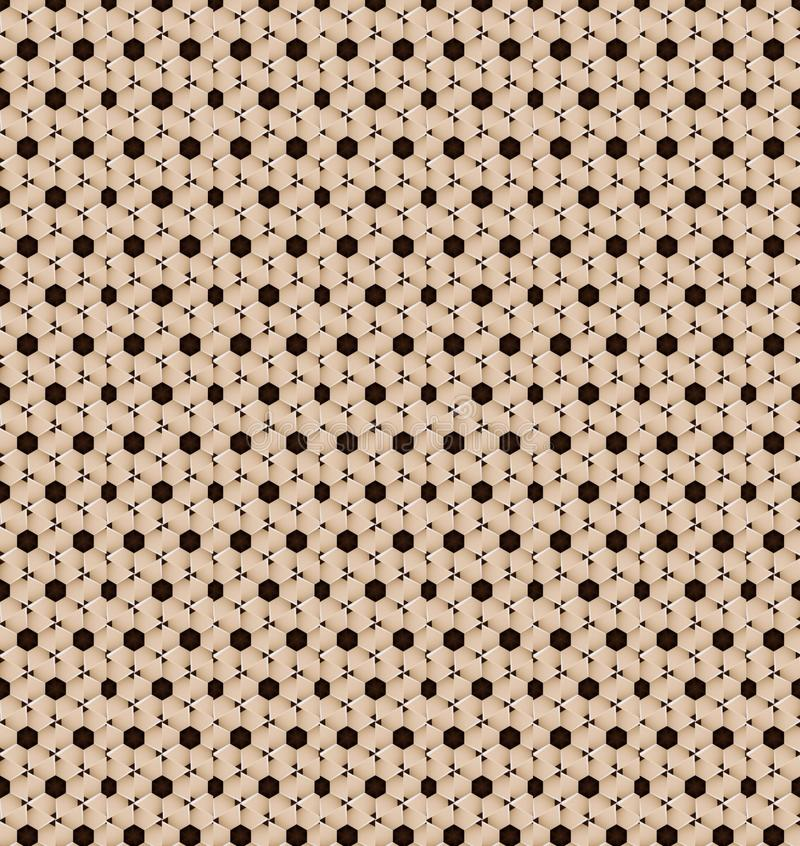 Abstract Cookies Cream Pattern Wallpaper Stock Photo