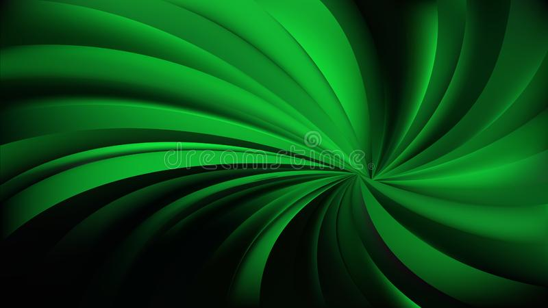 Abstract Cool Green Swirling Radial Background Vector. Beautiful elegant Illustration graphic art design stock illustration