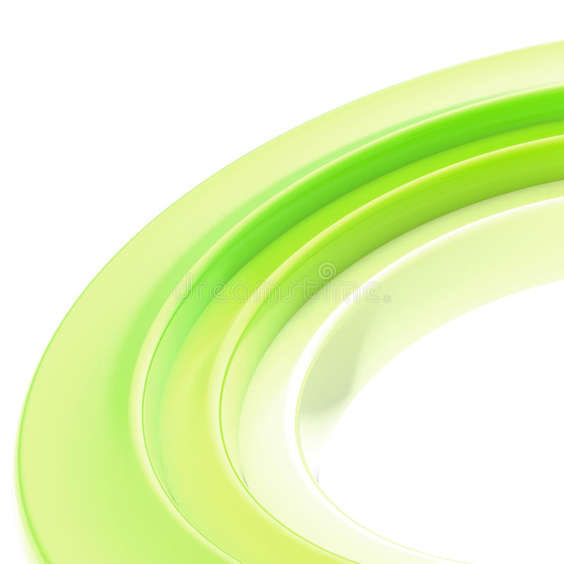 Abstract copyspace torus background. Abstract copyspace background made of glossy colorful torus on white royalty free stock photography