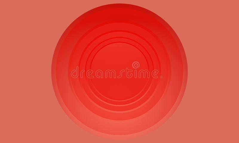 Abstract coral background with a round corridor. 3d rendering. Abstract coral background with a round corridor. Backdrop design for product promotion. 3d royalty free illustration