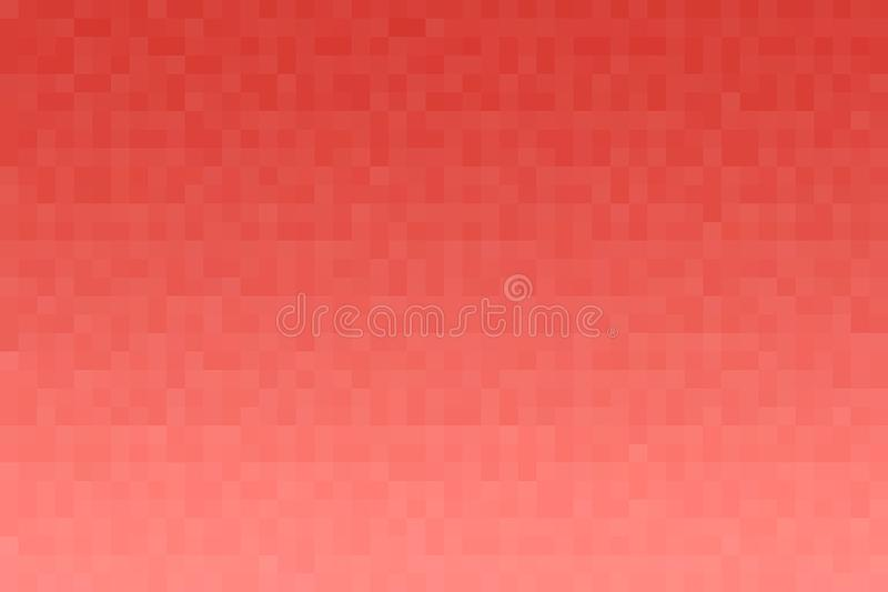 Abstract coral gradient background. Texture with pixel square blocks. Mosaic pattern.  royalty free illustration