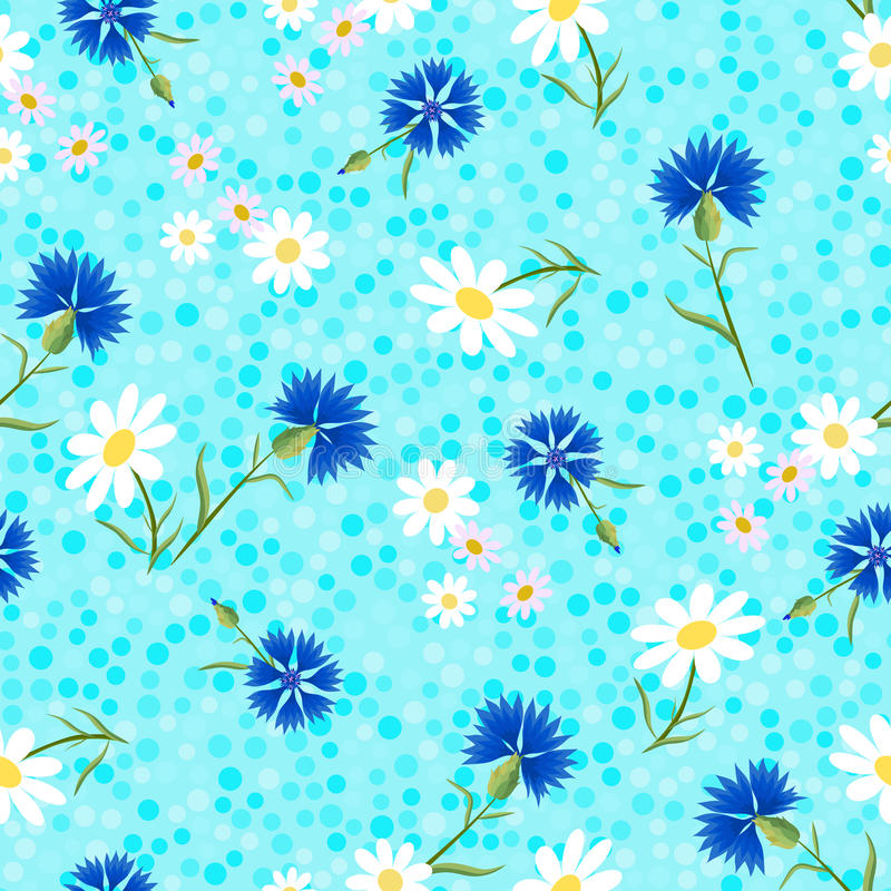 Free Abstract Cornflowers Blue Dots-01 Stock Photos - 90219013