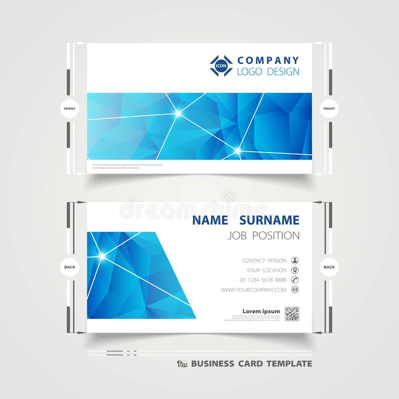 Abstract corporate blue technology name card template design for business. illustration vector eps10 royalty free illustration