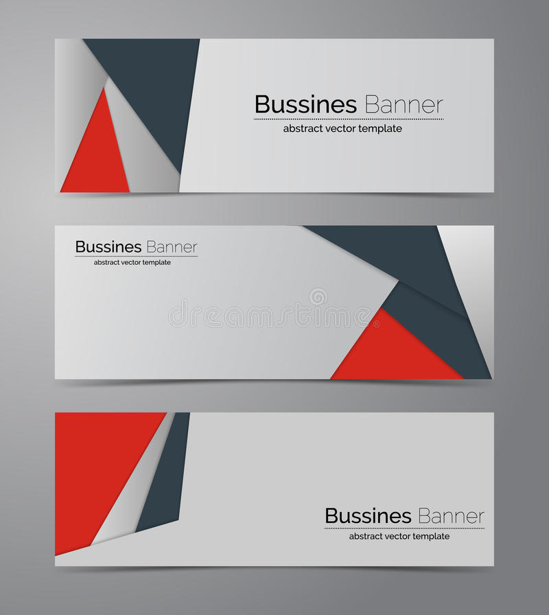 Abstract corporate business banner template royalty free illustration