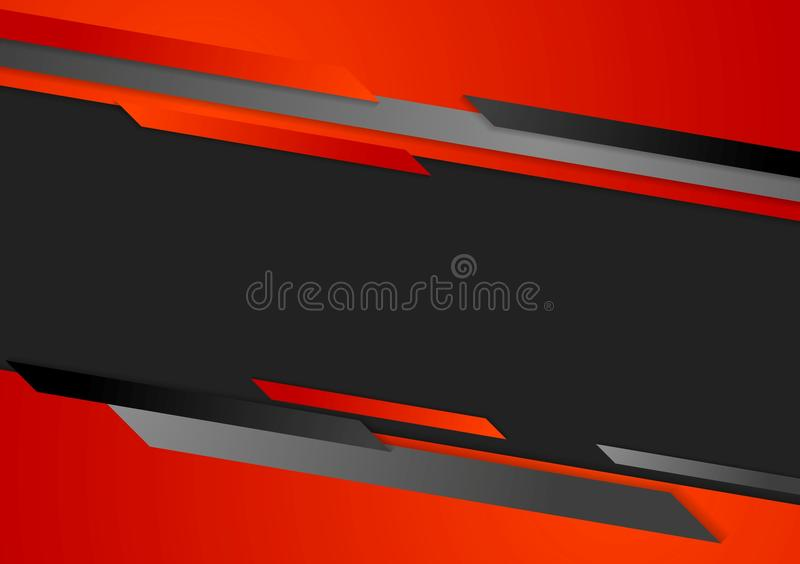 Abstract corporate dark tech background vector illustration