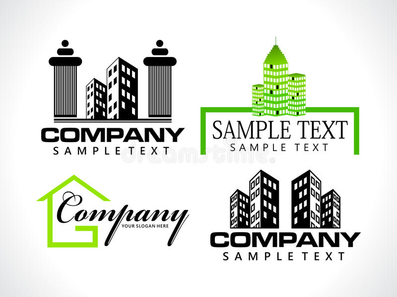 Abstract corporate logo template stock illustration