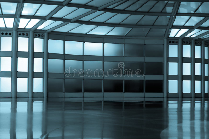 Download Abstract corridor in blue stock photo. Image of building - 4418738