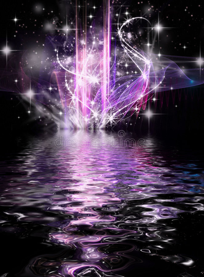 Download Abstract Cosmic Holiday Background Stock Illustration - Image: 7048703