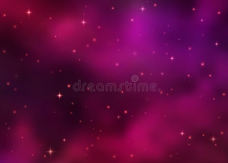 Abstract cosmic pink galaxy background. royalty free illustration