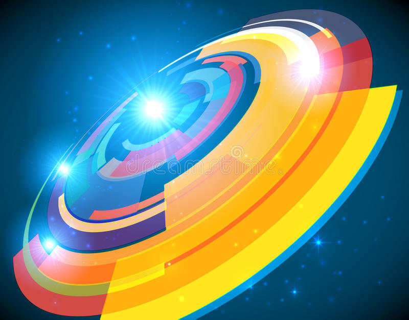 Abstract Cosmic Shining Colorful Circle Frame Stock Vector