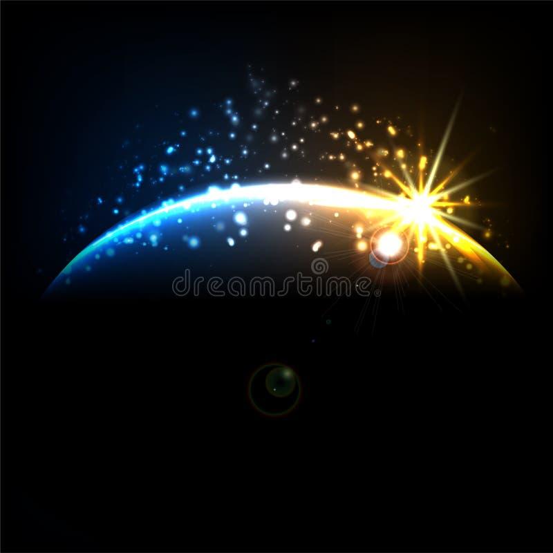 Download Abstract cosmic sunrise stock vector. Image of orbit - 33288437