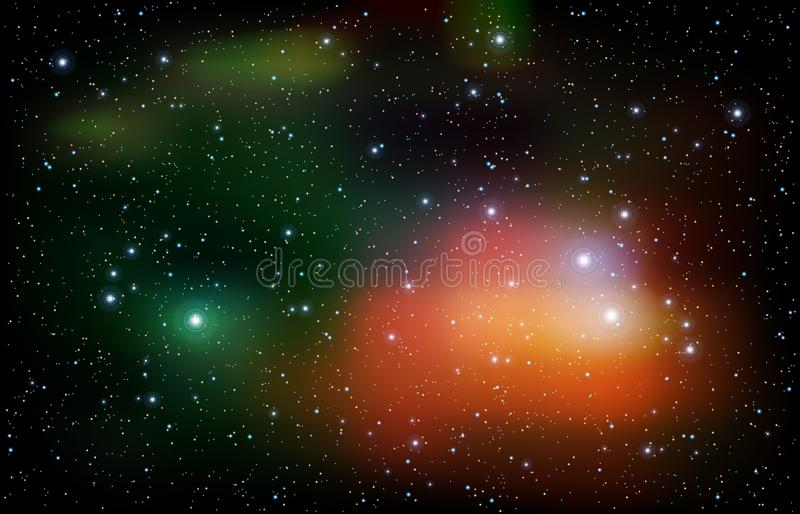 Abstract background with stars nebula and galaxy Vector illustration stock illustration