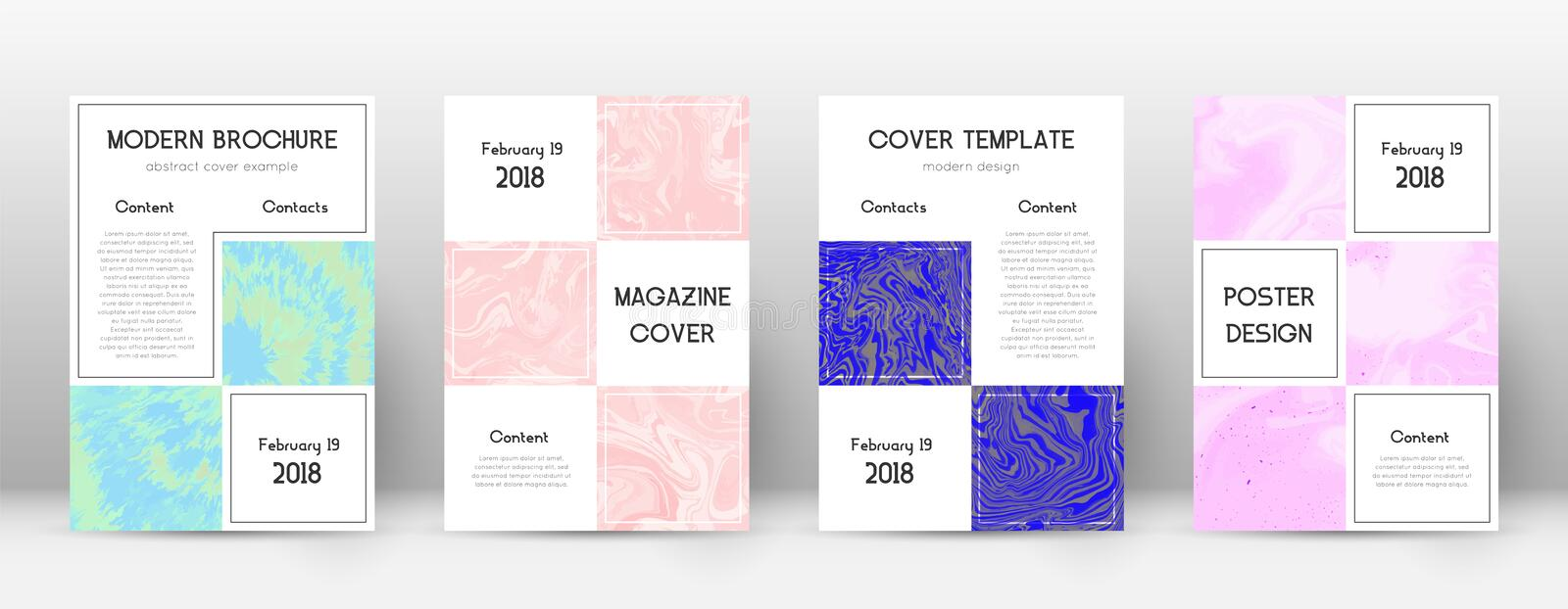 Abstract cover. Outstanding design template. Suminagashi marble business poster. Outstanding trendy royalty free illustration