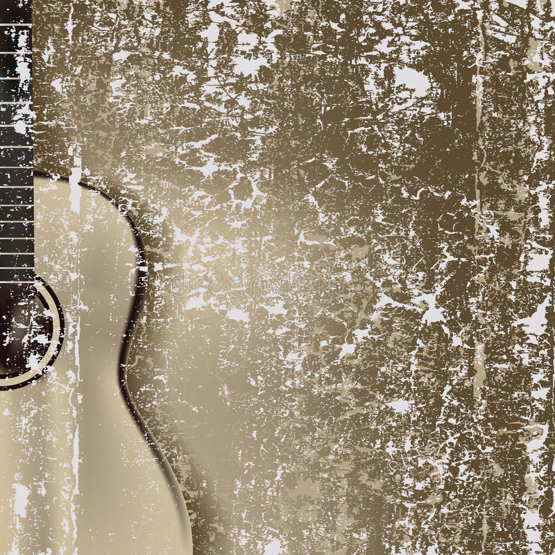 Abstract cracked background guitar vector illustration