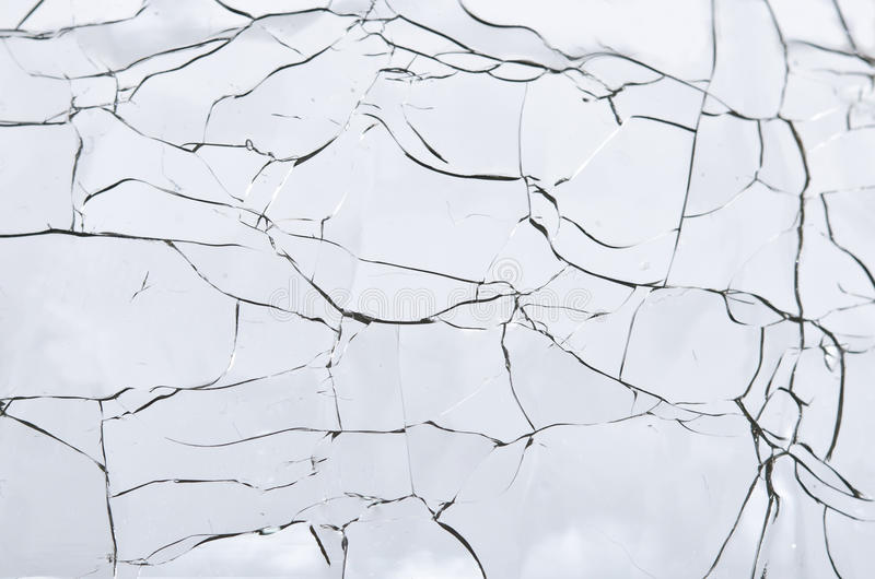 Abstract - Cracked Glass stock photos