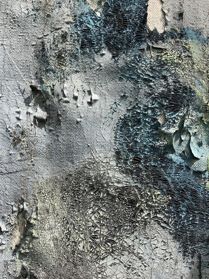Abstract craquelure effect, cracked paint for background. Cracked paint, abstract background with craquelure effect royalty free stock photo