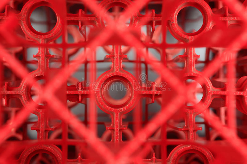 Abstract crates. Abstract shapes from pile of red crates royalty free stock photo