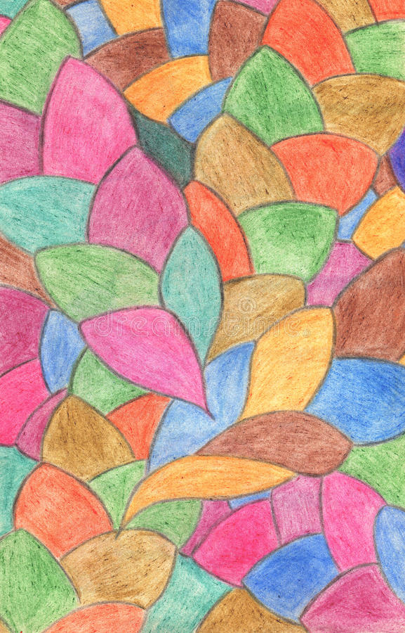 Abstract crayon background. Decoration design element. Hand draw stock illustration