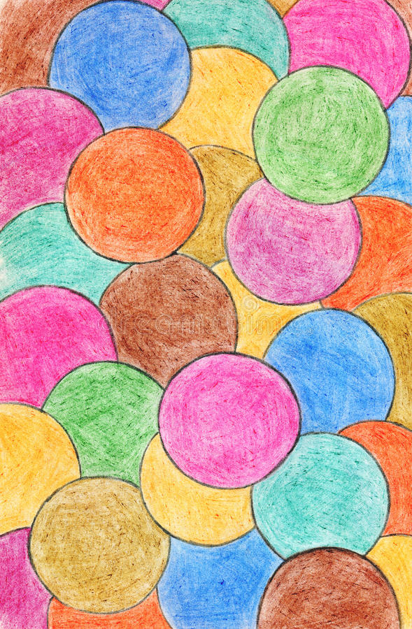 Abstract crayon background. Decoration design element. Hand draw royalty free illustration