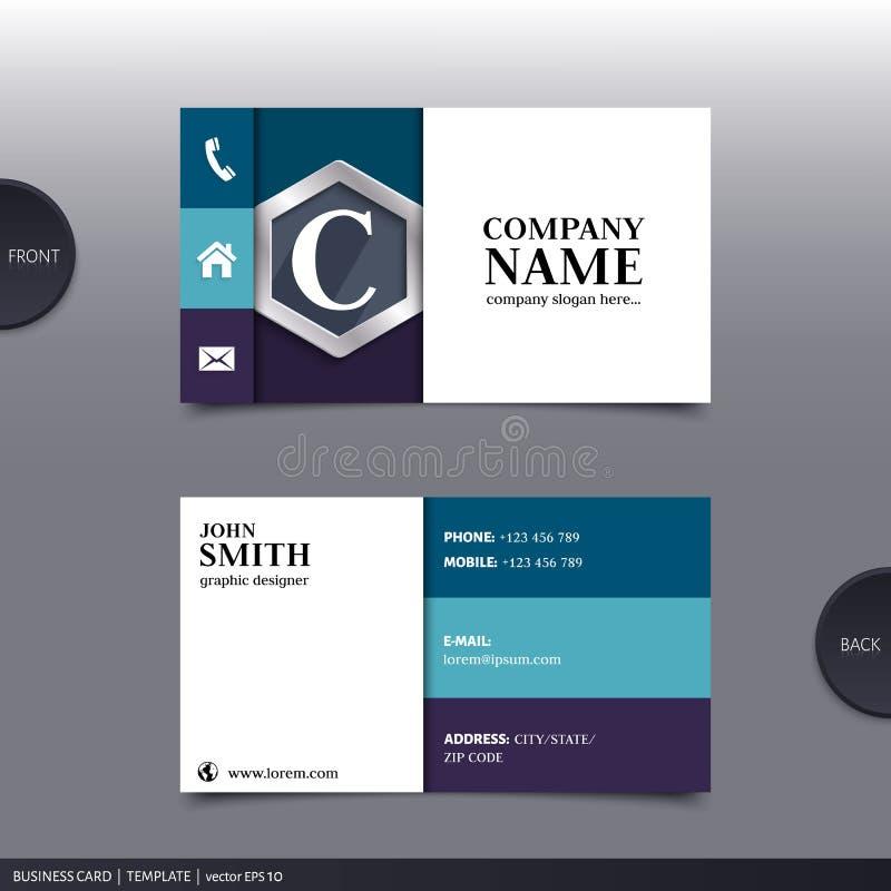 Abstract creatief adreskaartje Vector royalty-vrije illustratie