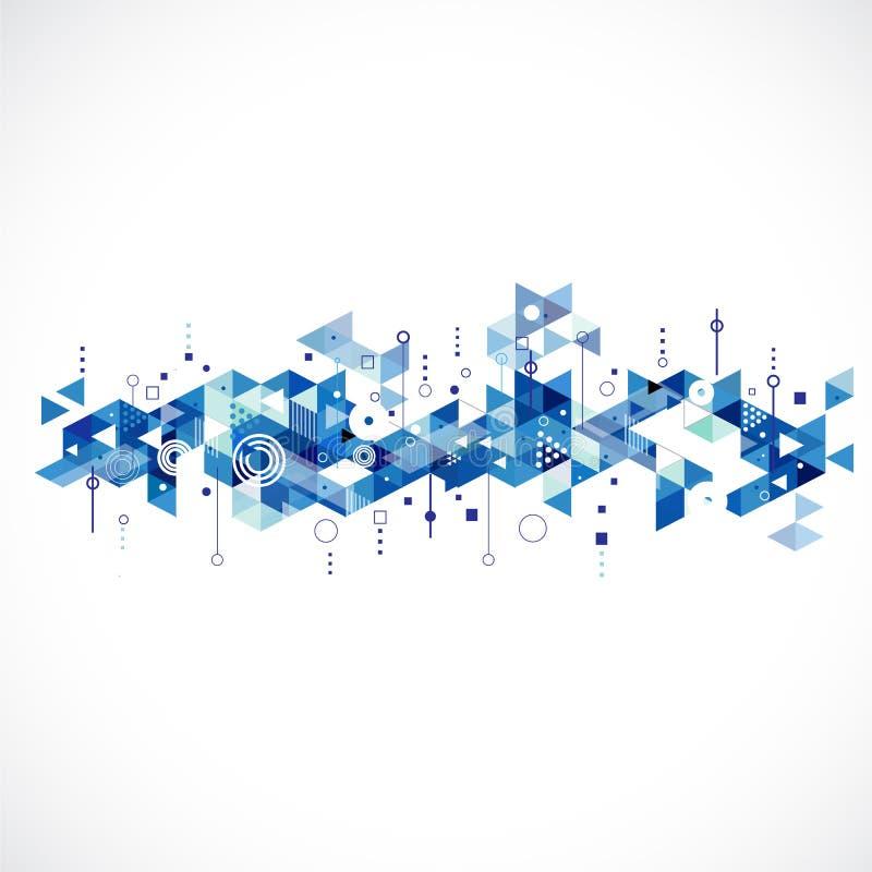 Abstract creatief blauw driehoeksmalplaatje vector illustratie