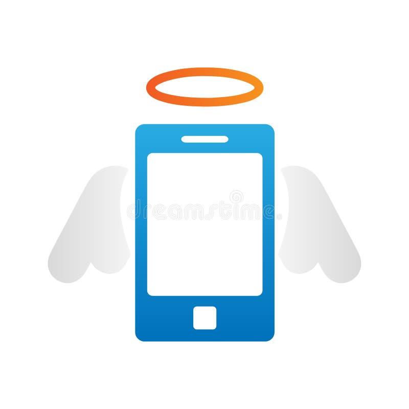 Abstract Creatief conceptenpictogram van slimme telefoon voor Web en Mobiele die Toepassingen op achtergrond wordt ge?soleerd Het royalty-vrije illustratie