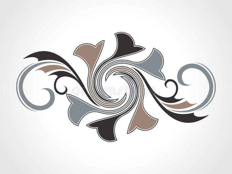 Abstract creatief decoratief element royalty-vrije illustratie