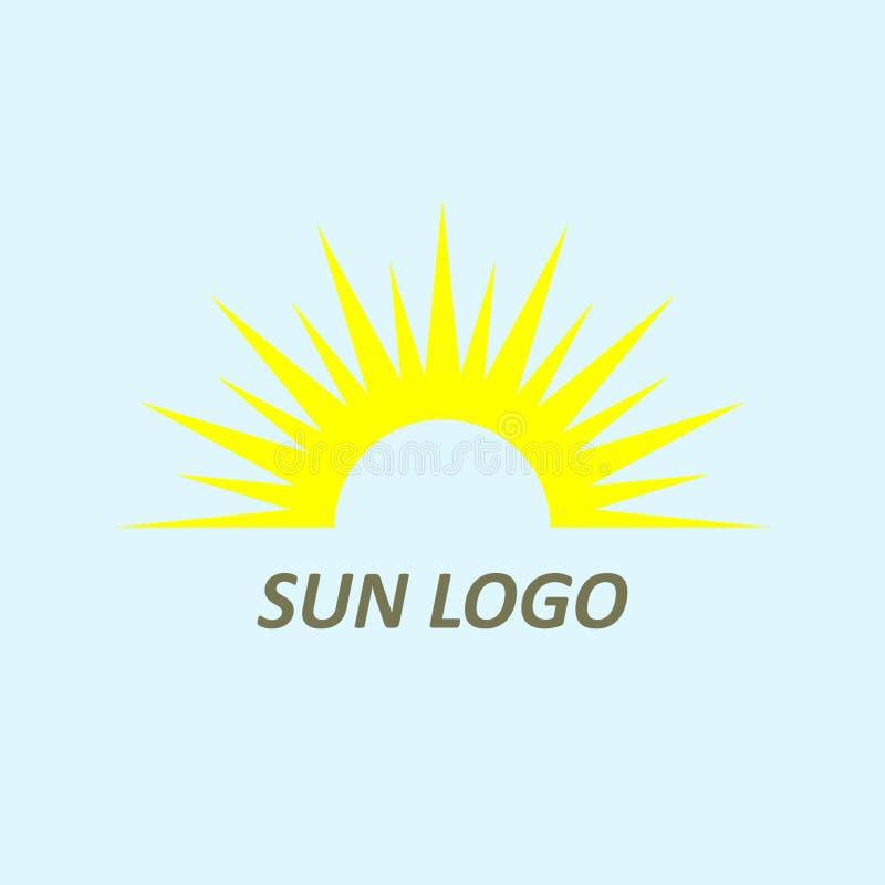 Abstract creatief het ontwerpelement van het zonembleem Zonsondergang, zonsopgangvector stock illustratie