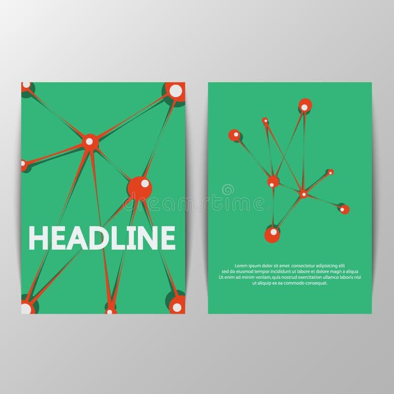 Abstract creatief vectorontwerp voor brochure, Web-pagina, stock illustratie