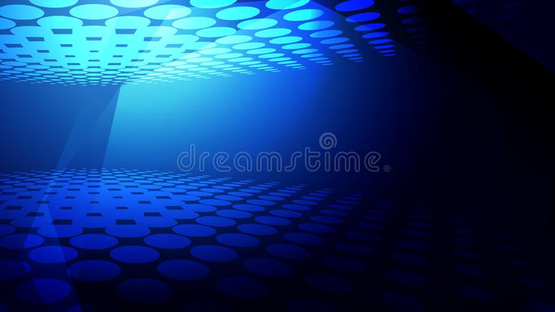 Abstract creative background. Abstract blue light and shade creative technology background. Vector illustration royalty free illustration