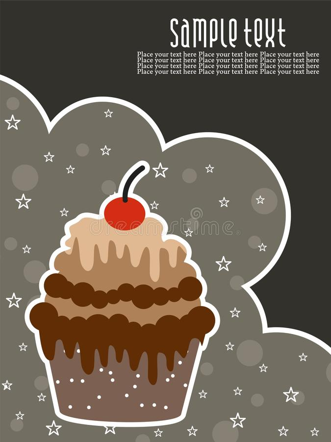 Download Abstract Creative Birthday Background With Cake Stock Vector - Image: 15087644