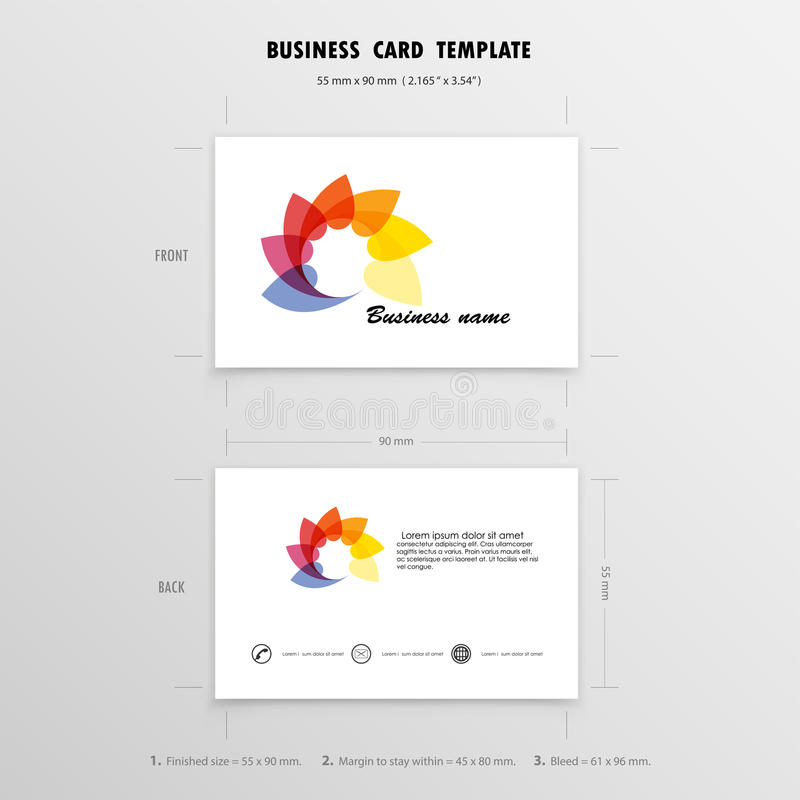 abstract creative business cards design template name cards sym