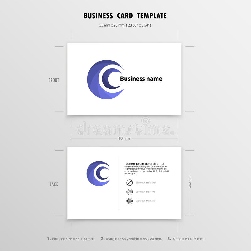 Abstract Creative Business Cards Design Template. Name ...