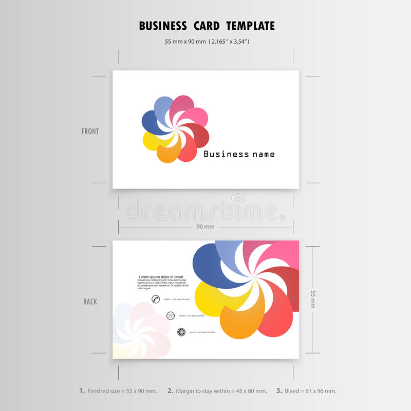 Abstract Creative Business Cards Design Template. Name Cards Stock ...