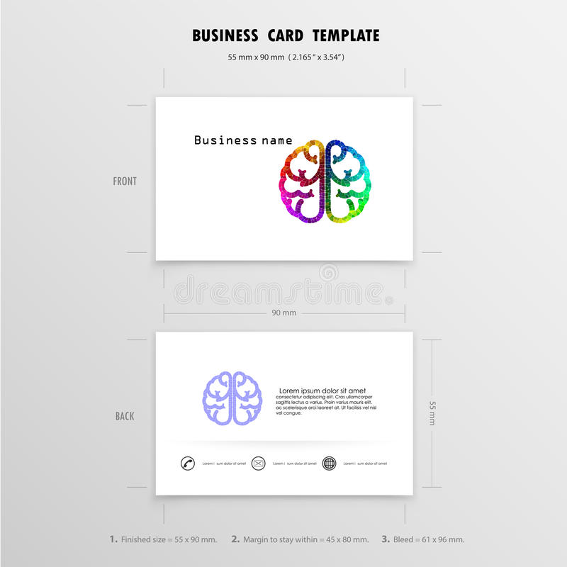Abstract creative business cards design template stock vector download abstract creative business cards design template stock vector illustration of brain advertising reheart Images