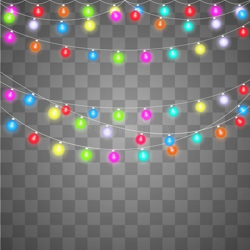 Abstract creative christmas garland light royalty free illustration