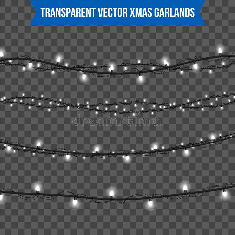 Abstract creative christmas garland light isolated on background. template. Vector illustration clipart art for Xmas holiday decor. Ation. Concept idea design stock photography