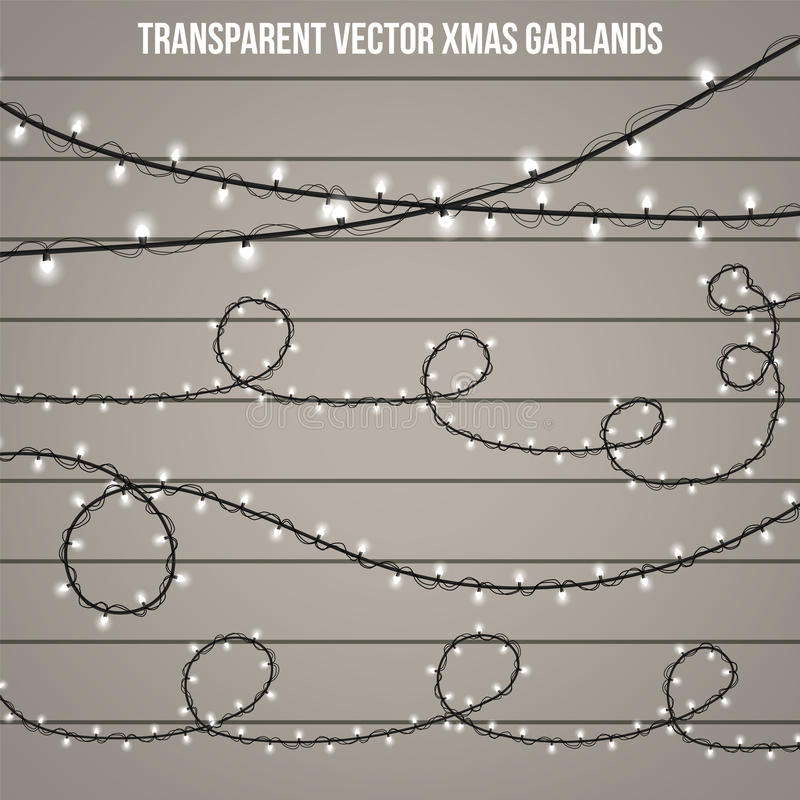 Abstract creative christmas garland light isolated on background. template. Vector illustration clipart art for Xmas holiday decor. Ation. Concept idea design royalty free stock photo