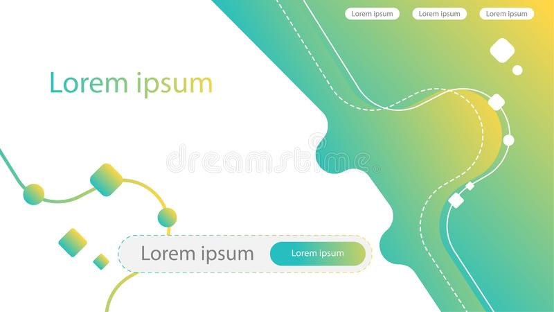 Abstract Creative concept. Green Gradient Landing page. Vector for Mobile Applications royalty free illustration